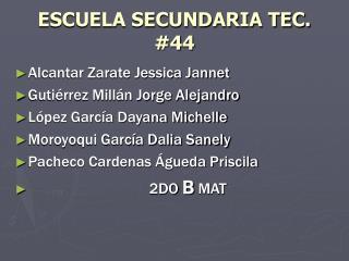 ESCUELA SECUNDARIA TEC. 44