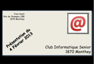 Club Informatique Senior 1870 Monthey
