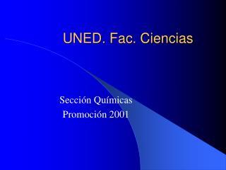 UNED. Fac. Ciencias