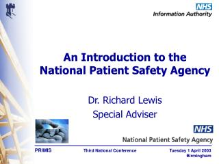 An Introduction to the National Patient Safety Agency