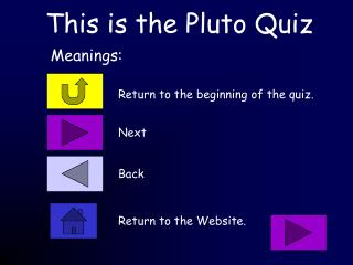 This is the Pluto Quiz