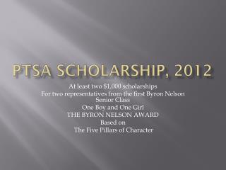 PTSA Scholarship, 2012