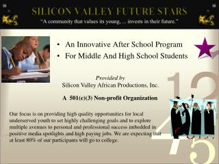 An Innovative After School Program For Middle And High School Students
