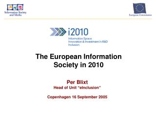 The European Information Society in 2010
