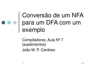 Conversão de um NFA para um DFA com um exemplo