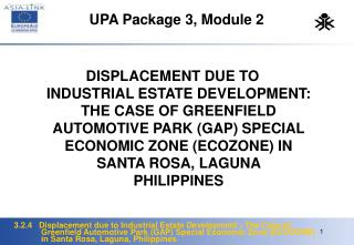 UPA Package 3, Module 2