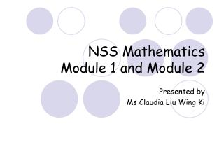 NSS Mathematics Module 1 and Module 2
