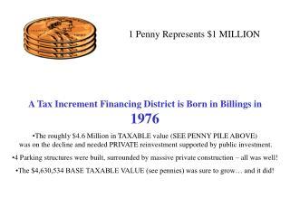 1 Penny Represents $1 MILLION