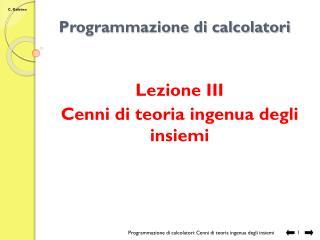 Programmazione di calcolatori