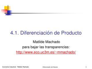4.1. Diferenciaci n de Producto