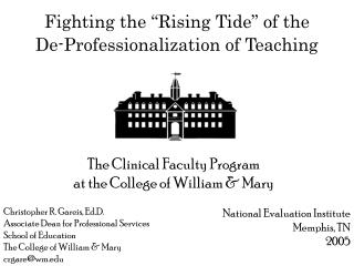 Fighting the  Rising Tide  of the  De-Professionalization of Teaching
