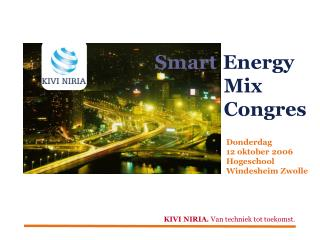 Smart Energy               Mix               Congres