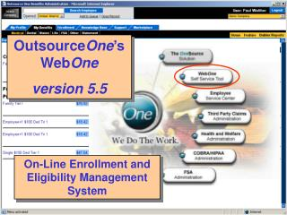 On-Line Enrollment and Eligibility Management System