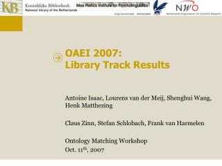 OAEI 2007: Library Track Results