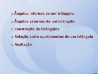 Ângulos internos de um triângulo
