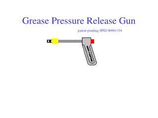 Grease Pressure Release Gun