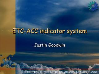ETC-ACC indicator system