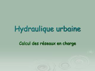 Hydraulique urbaine