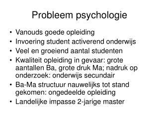 Probleem psychologie