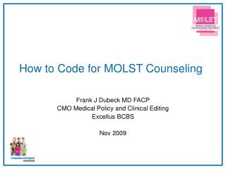 How to Code for MOLST Counseling