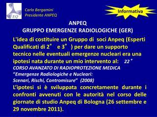 ANPEQ   GRUPPO EMERGENZE RADIOLOGICHE (GER)