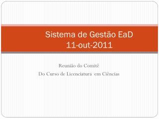Sistema de Gestão  EaD 11-out-2011