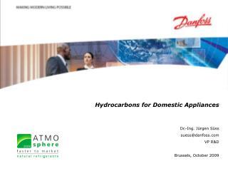 Hydrocarbons for Domestic Appliances Dr.-Ing. Jürgen Süss suess@danfoss VP R&D
