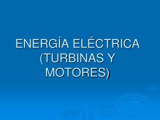ENERGÍA ELÉCTRICA (TURBINAS Y MOTORES)