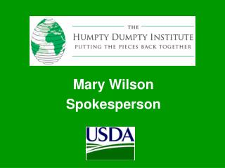 Mary Wilson Spokesperson
