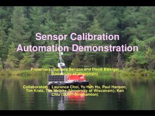 Sensor Calibration Automation Demonstration