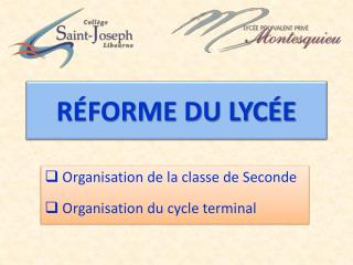 RÉFORME DU LYCÉE