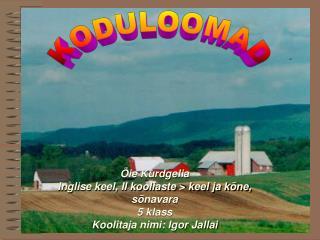 KODULOOMAD