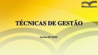 TÉCNICAS DE GESTÃO