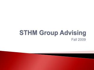 STHM Group Advising