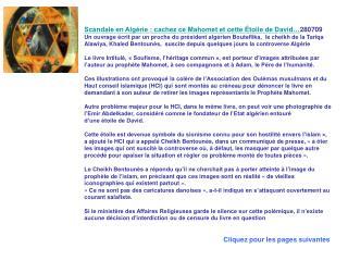 Scandale en Algérie : cachez ce Mahomet et cette Étoile de David… 280709