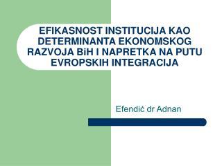 Efendić dr Adnan