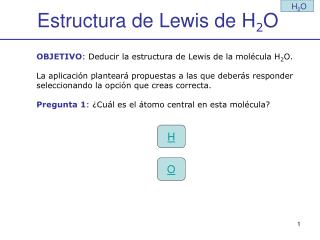 Estructura de Lewis de H 2 O