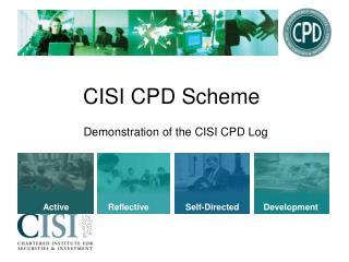 CISI CPD Scheme