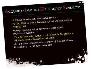Infek čná choroba  ľudí   vírusového  pôvodu
