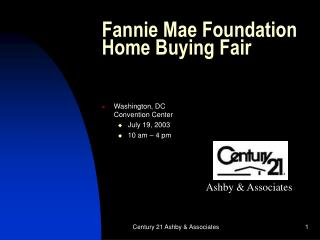 Fannie Mae Foundation Home Buying Fair