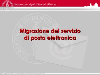 Migrazione del servizio  di posta elettronica