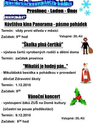 Plán akcí a činností MŠ Dr. Joklíka
