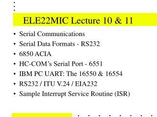 ELE22MIC Lecture 10  11