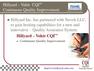 Hillyard – Vektr  CQI ™ Continuous Quality Improvement