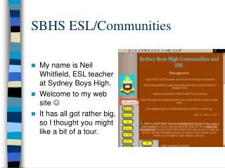 SBHS ESL/Communities
