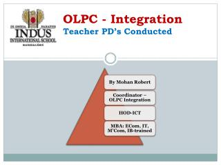 OLPC - Integration Teacher PD's Conducted