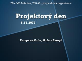Projektový den