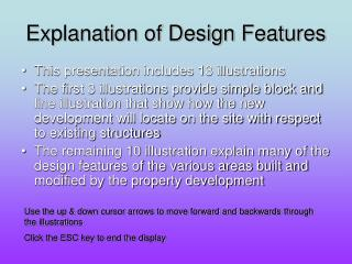Explanation of Design Features