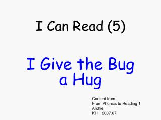 I Can Read (5)