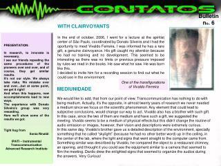 Bulletin n o . 6
